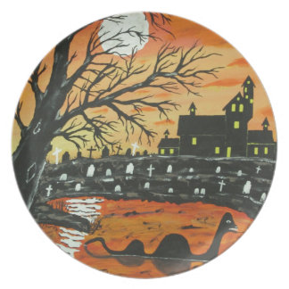 Loch Ness Monster This Halloween Dinner Plate
