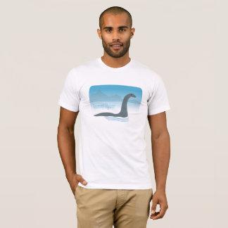 Loch Ness Monster With Headphones Fun Tee Shirt