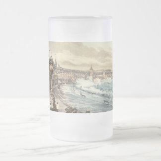 Loch Promenade I, Douglas, Isle of Man, England Frosted Glass Beer Mug