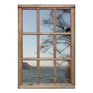 Loch View from a Window Poster