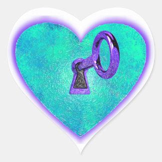 Lock Heart Heart Sticker