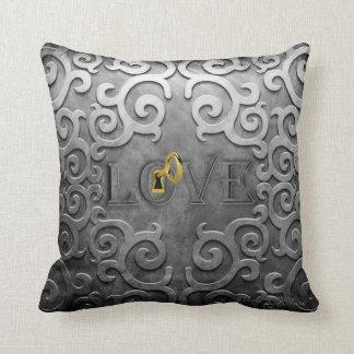 Lock Heart Throw Pillow