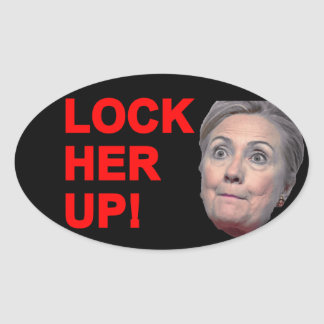 Lock Her Up Oval Sticker