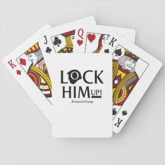 Lock Him Up Anti Trump Impeach Trump Playing Cards