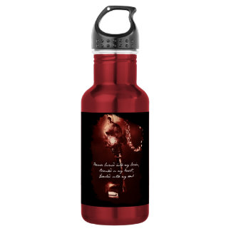 Lock & Key Water Bottle (18 oz), Red