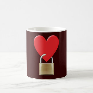 Lock locked heart heart closed PAD LOCK Coffee Mug