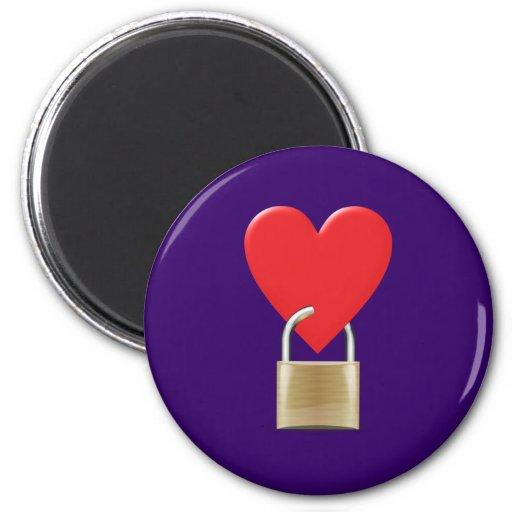 Lock locked heart heart closed PAD LOCK Fridge Magnets