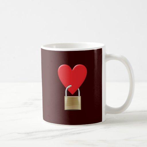 Lock locked heart heart closed PAD LOCK Mug