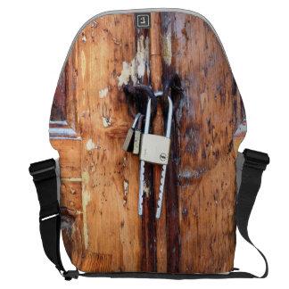 Lock Motif Messenger Bag