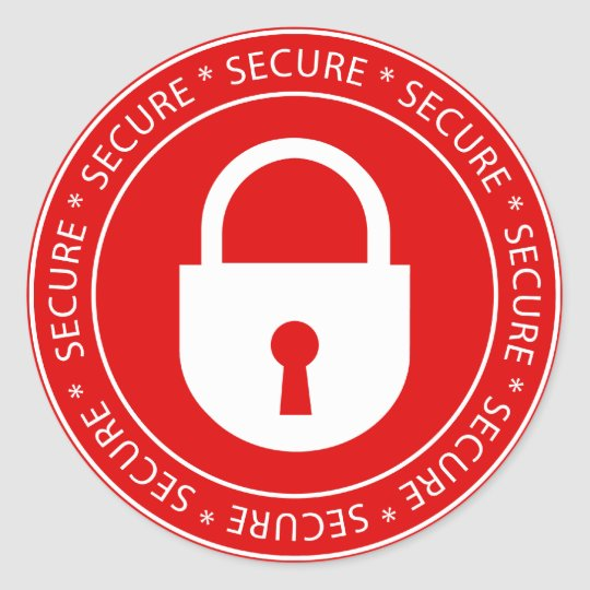 Lock Secure Sign Sticker