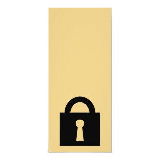 Lock. Top Secret or Confidential Icon. Personalized Announcement