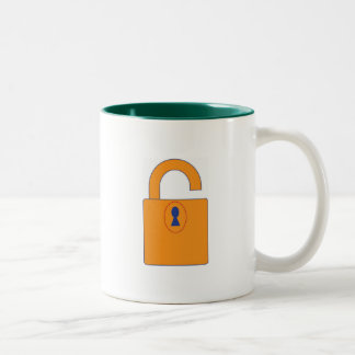 Lock Two-Tone Coffee Mug