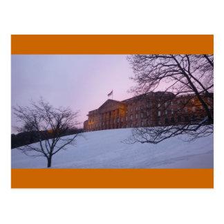Lock Wilhelm height Kassel - winter luck Postcard