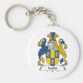 Locke Family Crest Basic Round Button Keychain