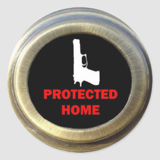 Locked and Loaded Home Security Round Sticker