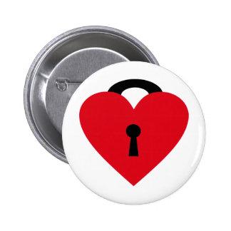 locked heart anstecknadelbutton