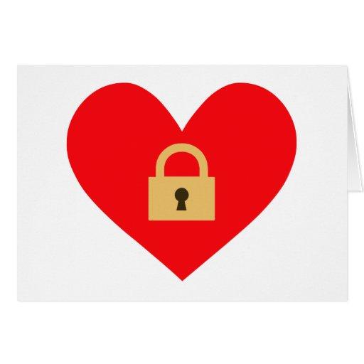 locked heart closed heart card