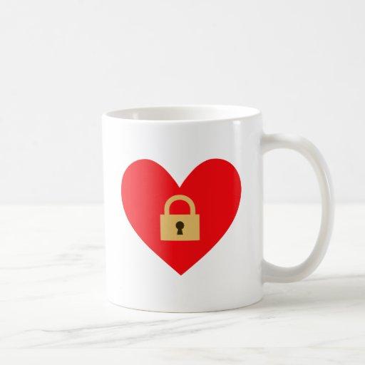 locked heart closed heart coffee mug