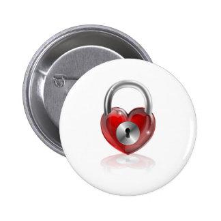 Locked heart concept pin