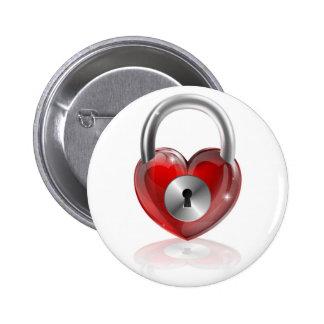 Locked heart concept pins