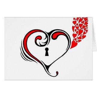 Locked Heart Greeting Card