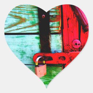Locked Heart Stickers