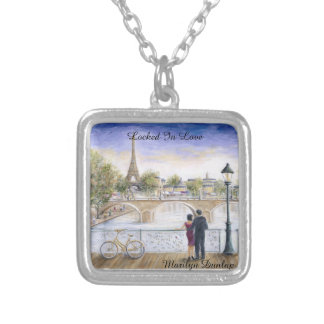 Locked In Love Silver Plated Necklace