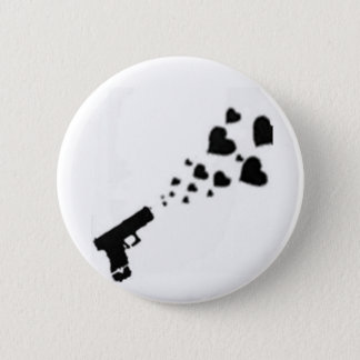 Locked & Loaded With Hearts 2 Inch Round Button