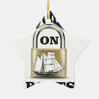 locked on boats yeah ceramic star ornament
