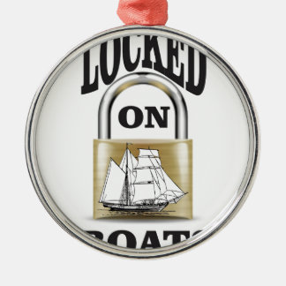 locked on boats yeah Silver-Colored round ornament