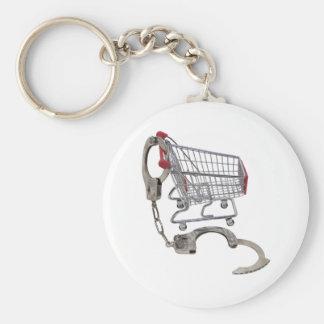 LockedInShopping061509 Basic Round Button Keychain