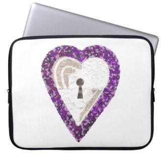 Locker Heart 15 Inch Laptop Sleeve