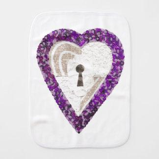 Locker Heart Burp Cloth