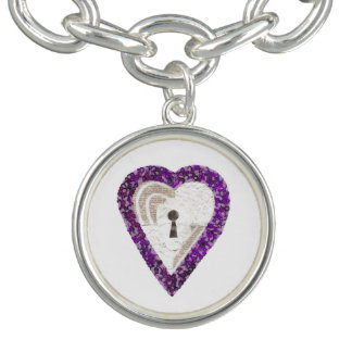 Locker Heart Charm Bracelet