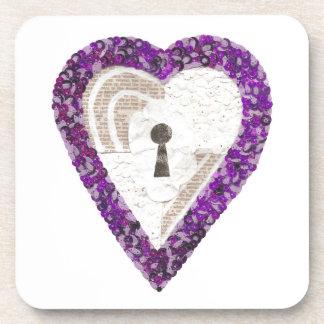 Locker Heart Cork Coasters