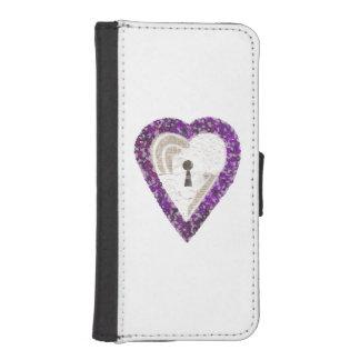 Locker Heart I-Phone 5/5s Wallet Case