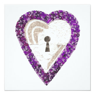 Locker Heart Invitation