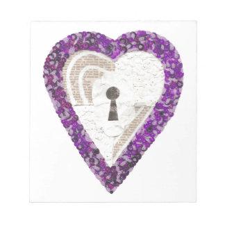 Locker Heart Notepad
