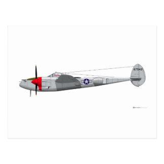 Lockheed P-38J Lightning Postcard