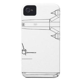 Lockheed_YF-12A_3view Case-Mate iPhone 4 Case