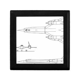 Lockheed_YF-12A_3view Gift Box