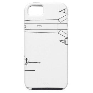 Lockheed_YF-12A_3view iPhone 5 Case