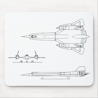 Lockheed_YF-12A_3view Mouse Pad