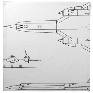 Lockheed_YF-12A_3view Napkin