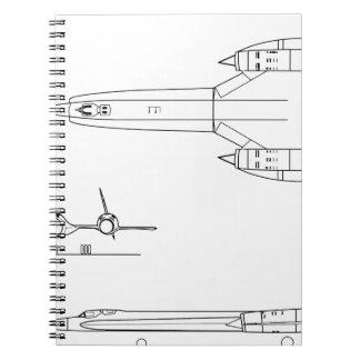Lockheed_YF-12A_3view Notebook
