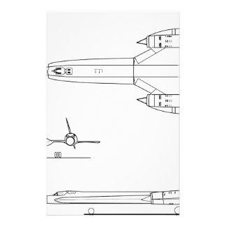 Lockheed_YF-12A_3view Stationery