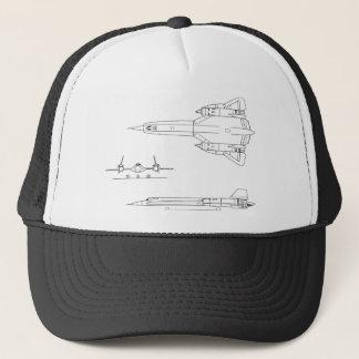 Lockheed_YF-12A_3view Trucker Hat