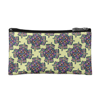 Locking in peace - cosmetic bag peacock mandala