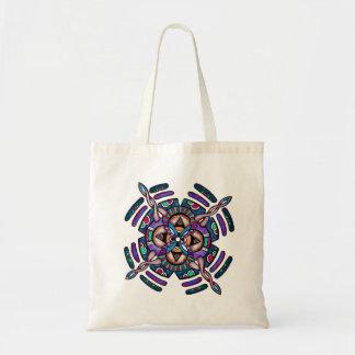 Locking in peace - tote bag peacock color mandala
