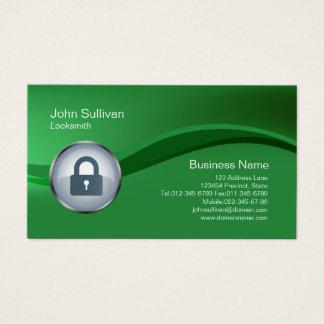 Locksmith Business Card Padlock Icon